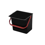 Seau rectangulaire 15 L anse rouge
