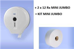 Kit distributeur MINI JUMBO + 2 x 12 Rx MINI JUMBO Ecolabel